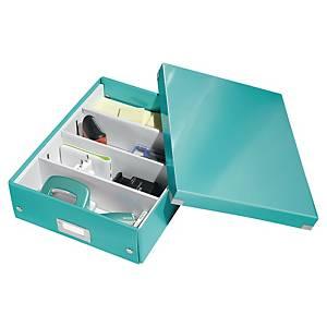 Archivbox Leitz 6058 WOW, Click n Store, Gr: M, Maße: 280x100x370mm, eisblau met
