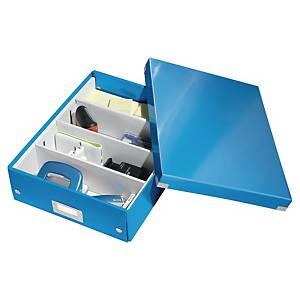 Oppbevaringsboks Leitz WOW Click&Store, medium, A4, blå