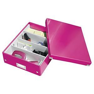 Leitz Click & Store tárolódoboz, méret: M, rózsaszín