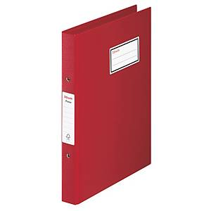ESSELTE 4-RING BINDER PP A4 RED