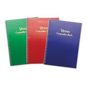 สมุดบันทึกริมลวด VENUS 9/30 17.5 X 25ซม. 100 แกรม บรรจุ 30 แผ่น คละลาย