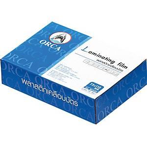 ORCA พลาสติกเคลือบบัตร 75X110 มม. 125 ไมครอน 100 แผ่น