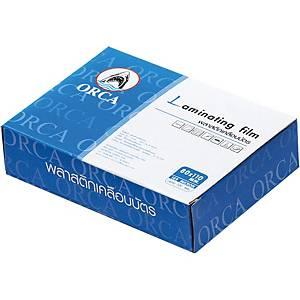 ORCA พลาสติกเคลือบบัตร 80X110 มม. 125 ไมครอน 100 แผ่น