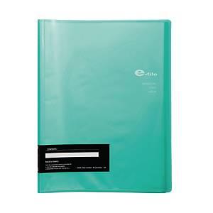 E-FILE แฟ้มโชว์เอกสารแบบเติมซองไม่ได 720A A4 40 ซอง เขียว