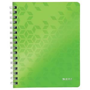 Leitz WOW Notizbuch, mit Spiralbindung, A5, liniert, 160 Seiten, grün
