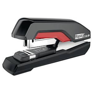 Agrafeuse Rapid Supreme S50 Super Flat Clinch, rouge/noire, 50 feuilles