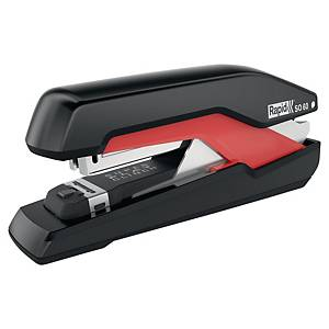 Agrafeuse Rapid S060 PressLess Super Flat Clinch, rouge/noire, 50 feuilles