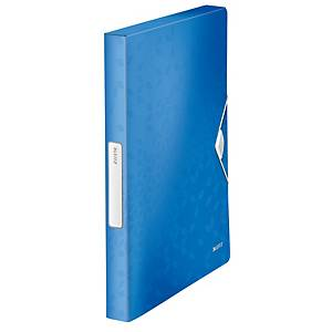Leitz 4629 WOW gumis mappa, PP, kapacitás: 250 lap, A4, kék