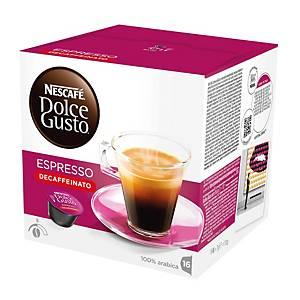 Caixa 16 cápsulas de café Dolce Gusto Espresso descafeinado