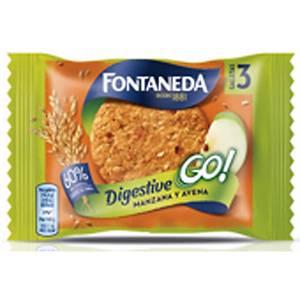 Caixa 24 pacotes de bolachas Fontaneda - maçã e aveia - 43 g