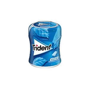 Bote de 61 chicles Trident - grageas - sin azúcar - menta