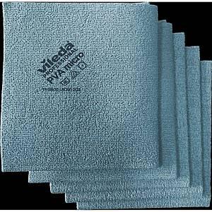 Pack de 5 panos absorventes em PVA e microfibra Vileda - 380 x 350 mm - azul