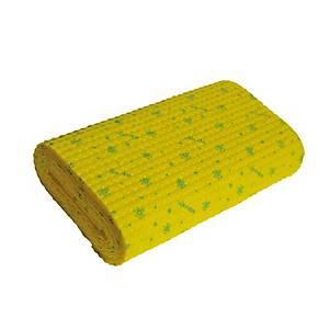 Rolo de pano absorvente pré-cortado Vileda - 344 mm x 4 m - amarelo
