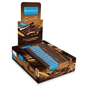Caja de 20 barritas de cereales con chocolate negro Bicentury - 20 g