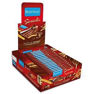 Caixa 20 barras de cereais de chocolate de leite Bicentury -20 g