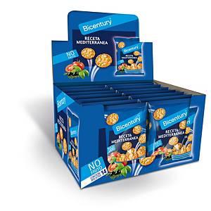 Caja 14 bolsas tortitas de maíz Bicentury - receta mediterránea -25 g