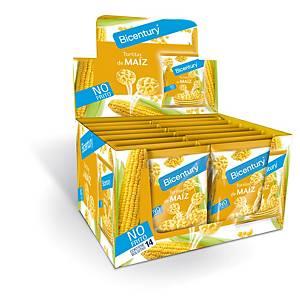 Caja de 14 bolsas de tortitas de maíz Bicentury - 25 g