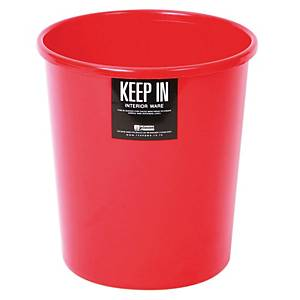 KEEP IN RW 9073 Litter Bin 8 Litres Red
