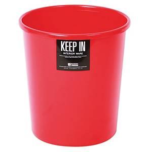 KEEP IN ถังขยะ ขนาด 20.5X22ซม. ความจุ 5 ลิตร แดง