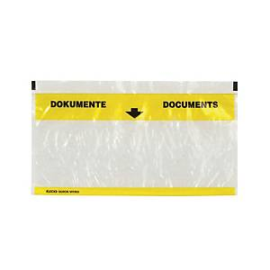 Pochettes porte-documents Elco, C5/6, jaune/transparent, emb. de 250 pcs