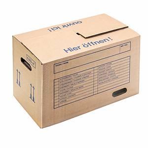 boîte de déménagement Brieger 369/36, 635 x 350 x 370 mm, marron