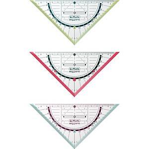 Geodreieck Herlitz 11367968, Hypotenusenlänge: 160mm, mit Griff, transparent