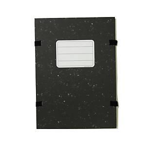 Irományfedél, karton papír bevonattal, fekete A4, 25 darab/csomag