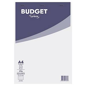 Bloc-notes Lyreco Budget - A4 - 100 pages - blanc quadrillé