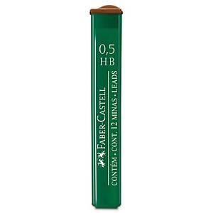 Tubo de 12 minas Faber-Castell - Ø 0,5 mm