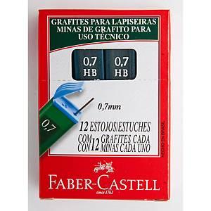 Tubo de 12 minas Faber-Castell - Ø 0,7mm