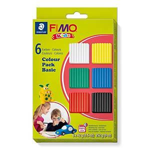 Staedtler Fimo Kids pâte à modeler colourpack 42 couleurs générales
