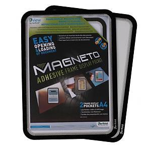 Pack de 2 fundas adhesivas Magneto - A4 - PVC - negro