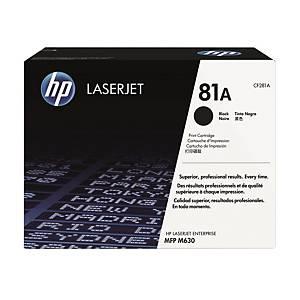 HP CF281A LaserJet Toner Cartridge (81A)- Black