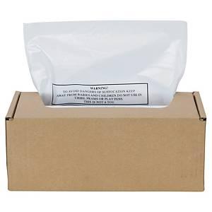 Sacs poubelle Fellowes 500c pour broyeur papier, 75 litres, le paquet de 50