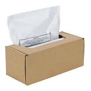 Plastiksäcke Fellowes 36084, für Aktenvernichter, Volumen: 94l, 50 Stück