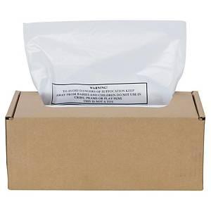 Påse till dokumentförstörare Fellowes, plast, 75 L, förp. med 50 st.