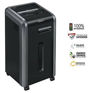 Fellowes Powershred 225 I autofeed shredder stip-cut -22 pages - 6 to 10 users
