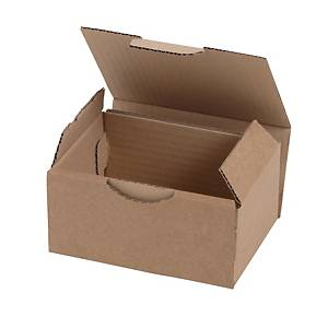 Shipping box 120 x 100 x 80 mm brown - pack of 50
