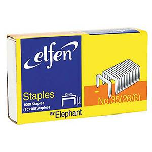 ELFEN 35-1M (26/6) STAPLES - BOX OF 1,000