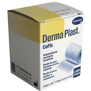 Bande de fixation DermaPlast CoFix, 2,5 cmx4 m, blanc