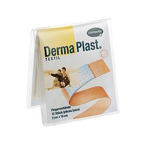 Pansement textile pour les doigts DermaPlast, 2 x 16 cm, paq. 12unités
