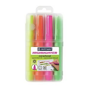 Textmarker Centropen 8552, 4 Farben