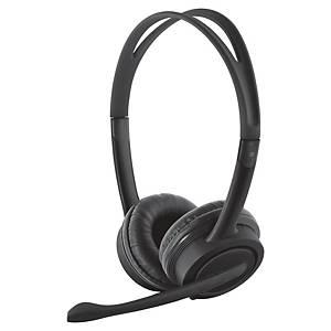 Headset Trust USB Mauro, kabelgebunden, schwarz