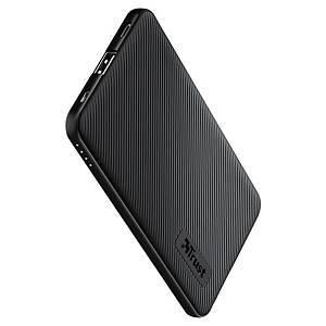 Powerbank Trust Primo 4400, für Smartphones und Tablets, schwarz
