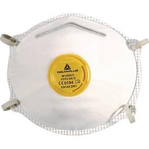 Masque à poussière jetable Deltaplus M1200VC, FFP2, avec valve, paquet de 10