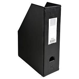 Porte-revues pliable Exacompta - dos 10 cm - noir