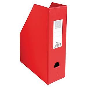 Porte-revues pliable Exacompta - dos 10 cm - rouge