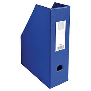 Porte-revues pliable Exacompta - dos 10 cm - bleu