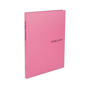 PK10 CW ECO CLEAR FILE PP A4 10MM PINK