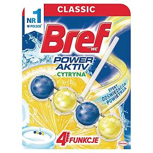 Kulki do toalet BREF Power Aktiv, 50 g, zapach cytrynowy